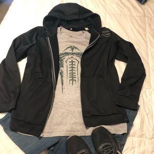 Black Adidas hooded jacket